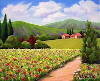 Meltem-Kilic-Landschaft-Sommer-Pflanzen-Baeume-Moderne-Impressionismus