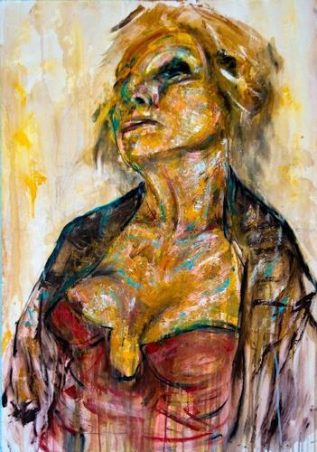 Luca Palazzi, Marina, Menschen: Frau, Neo-Expressionismus, Abstrakter Expressionismus