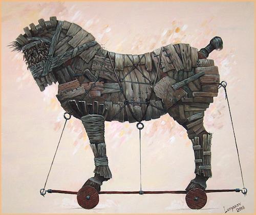 Sascha Lunyakov, Troyan, Diverse Tiere, Mythologie, Abstrakter Expressionismus