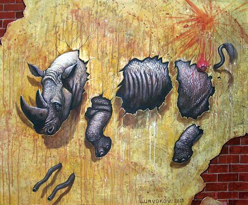 Sascha Lunyakov, On the wall, Diverse Tiere, Fantasie