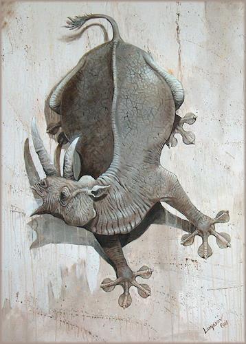Sascha Lunyakov, Gekko, Tiere: Land, Humor, Abstrakter Expressionismus