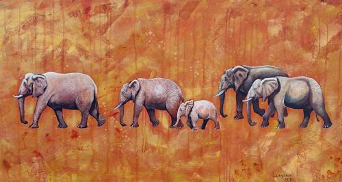 Sascha Lunyakov, Elefanten, Tiere: Land, Dekoratives
