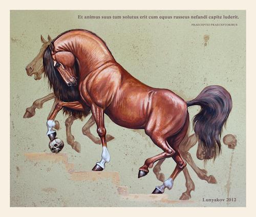 Sascha Lunyakov, Red horse, Tiere: Land, Realismus