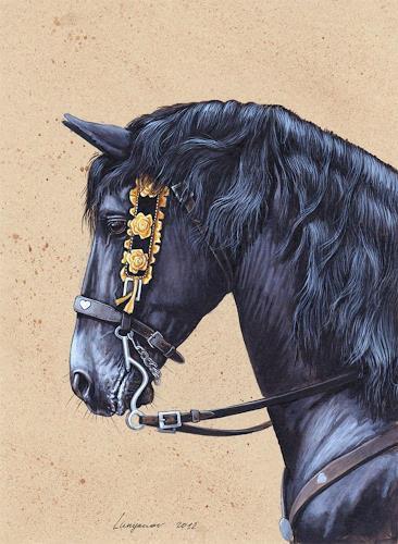 Sascha Lunyakov, Blacky, Tiere: Land, Dekoratives, Expressionismus