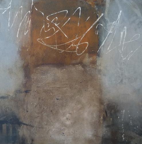 Sabine Lovermann, o.T., Landschaft: Berge, Abstraktes, Gegenwartskunst, Abstrakter Expressionismus