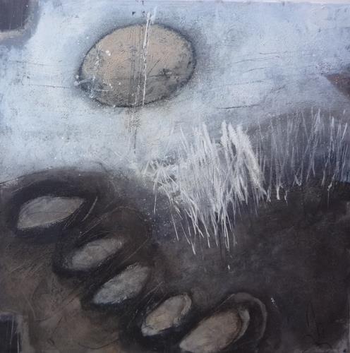 Sabine Lovermann, o.T., Abstraktes, Landschaft: Winter, Gegenwartskunst
