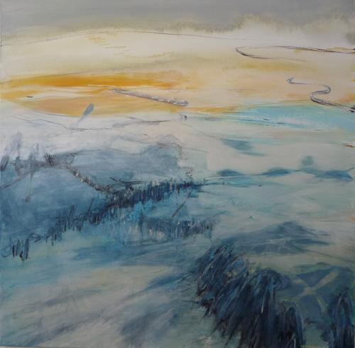 Sabine Lovermann, o.T., Landschaft, Abstraktes, Gegenwartskunst
