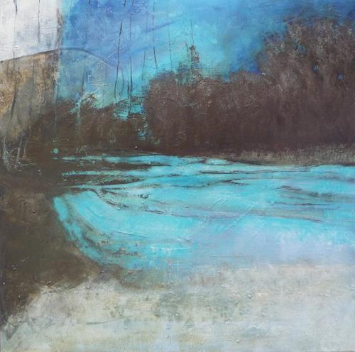 Sabine Lovermann, o.T., Abstraktes, Landschaft, Gegenwartskunst, Abstrakter Expressionismus