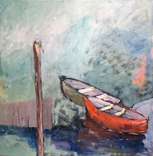 Ruth Roth, Boote, Landschaft: See/Meer, Natur: Wasser, Gegenwartskunst