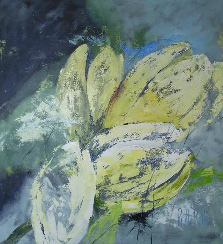 Ruth Roth, gelbe Tulpen, Pflanzen: Blumen, Diverses, Gegenwartskunst