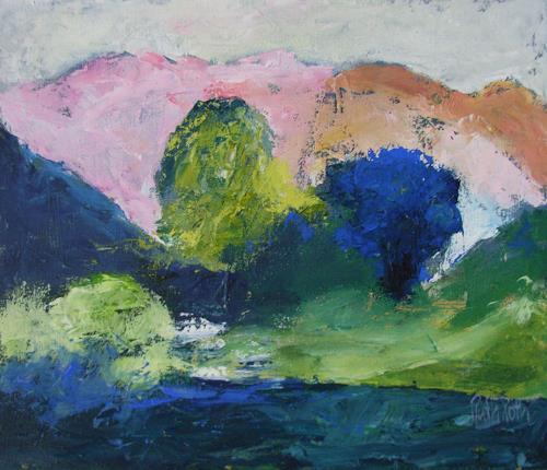 Ruth Roth, Landschaft mit alten Bäumen, Diverse Landschaften, Natur: Diverse, Expressionismus