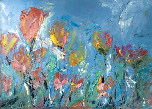 Ruth Roth, Tulpen, Pflanzen, Pflanzen: Blumen, Expressionismus