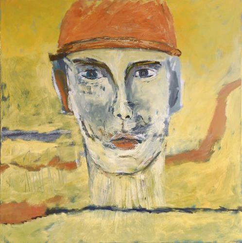 Ruth Roth, Portrait Mann mit Mütze, Menschen, Menschen: Porträt, Gegenwartskunst