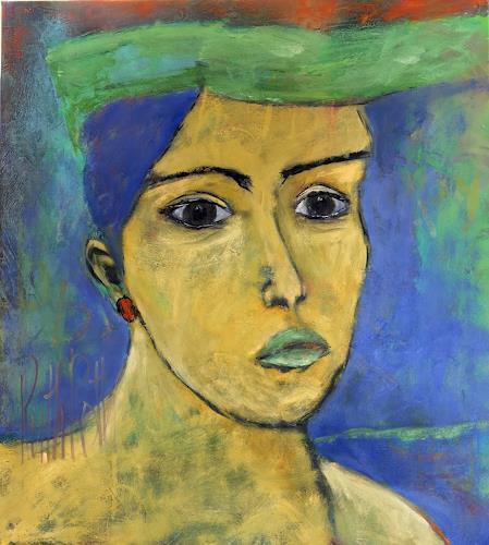Ruth Roth, Portrait Maria, Menschen, Menschen: Porträt, Gegenwartskunst, Expressionismus