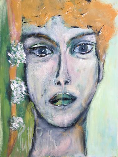Ruth Roth, Portrait Wanda, Menschen, Menschen: Porträt, Gegenwartskunst