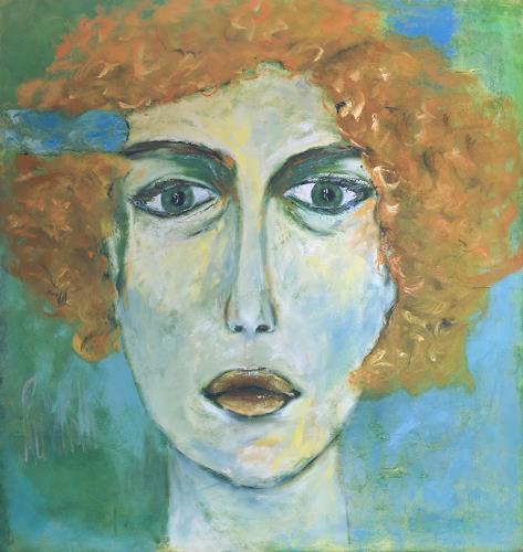 Ruth Roth, Portrait Lucie, Menschen: Porträt, Menschen: Gesichter, Gegenwartskunst