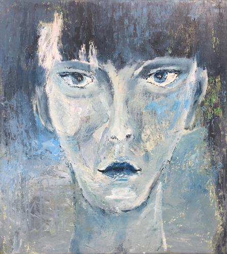 Ruth Roth, Portrait Junge, Menschen: Gesichter, Menschen: Porträt, Gegenwartskunst