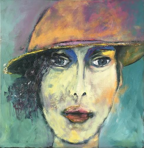 Ruth Roth, Portrait Anne, Menschen: Gesichter, Menschen: Porträt, Gegenwartskunst, Expressionismus
