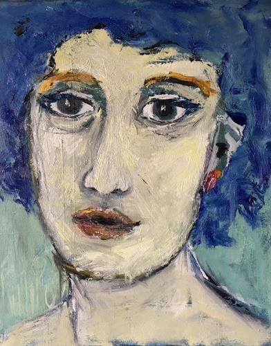 Ruth Roth, Portrait Claudia, Menschen, Menschen: Porträt, Gegenwartskunst