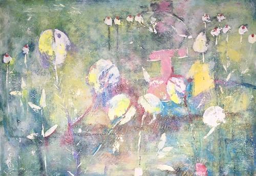 Ruth Roth, Luftschlösser, Abstraktes, Fantasie, Gegenwartskunst