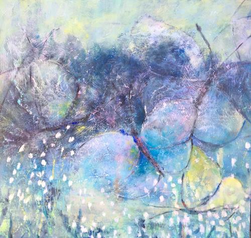 Ruth Roth, Frühlingsgefühle, Tiere: Luft, Natur: Diverse, Gegenwartskunst, Expressionismus