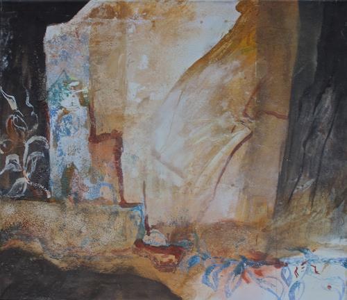 Reimund O. Boderke, Ahnung von Orientalischer Nacht, Romantik, Poesie, expressiver Realismus, Abstrakter Expressionismus