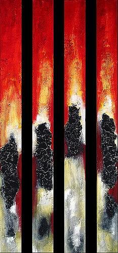 Edelgard Sprengel, Säulen der Erde, Abstraktes, Natur: Wasser, Gegenwartskunst