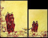Edelgard-Sprengel-Abstraktes-Diverse-Menschen-Gegenwartskunst--Gegenwartskunst-