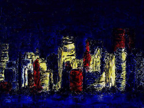 Edelgard Sprengel, Serie Skyline - New York I, Abstraktes, Wohnen: Stadt, Gegenwartskunst