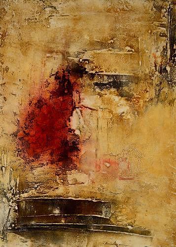 Edelgard Sprengel, Rituale 3, Zyklus Afrika, Abstraktes, Gesellschaft, Gegenwartskunst