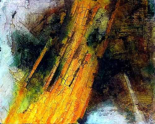 Edelgard Sprengel, Sahara - Algerein, Zyklus Erde von oben, Abstraktes, Landschaft, Gegenwartskunst
