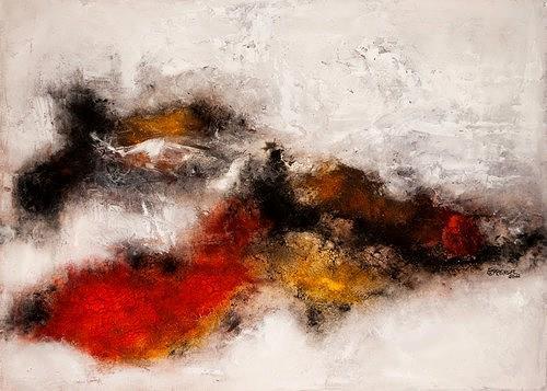 Edelgard Sprengel, Traumlandschaft II, Abstraktes, Diverse Landschaften, Expressionismus
