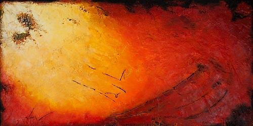 Edelgard Sprengel, Morning has broken, Abstraktes, Gefühle: Freude, Expressionismus