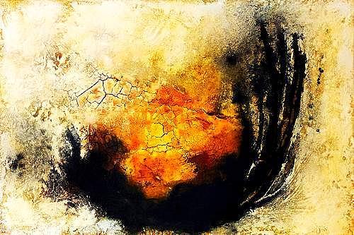 """Edelgard Sprengel, Erwachen, Zyklus """"Alles im Fluss, Abstraktes, Gefühle, Gegenwartskunst, Expressionismus"""