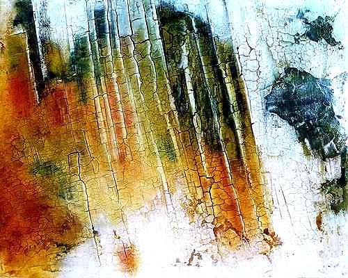 Edelgard Sprengel, Libysche Wüste - Libyen, Zyklus Erde von oben, Abstraktes, Landschaft, Gegenwartskunst
