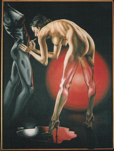 Peter Sänger, Die Nackte und die Statue, Diverse Erotik, Andere, Abstrakter Expressionismus