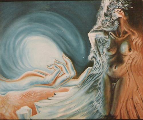 Peter Sänger, Der Strand und die frau, Fantasie, Abstrakter Expressionismus