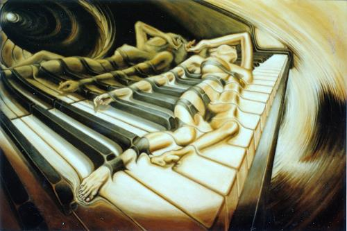 Peter Sänger, Das Klavier, Akt/Erotik: Akt Frau, Expressionismus