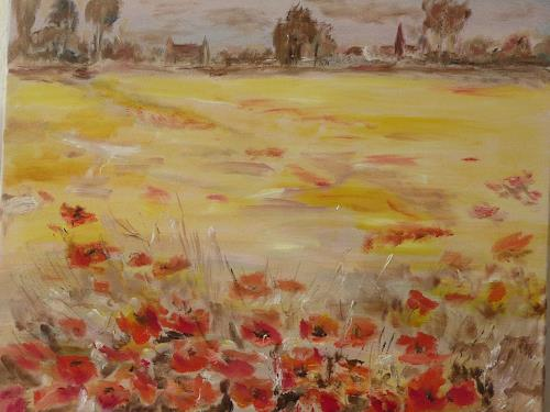 ALBERTO, Roter Mohn, Landschaft: Sommer, Natur: Diverse, Impressionismus