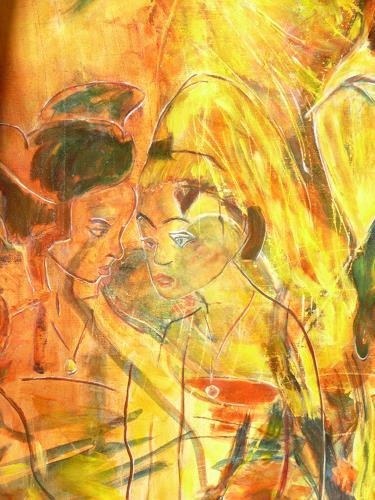 ALBERTO, Balinesisches Tempelfest, Diverse Romantik, Neue Figurative Malerei