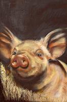 Marika-Korzen-Tiere-Land-Diverse-Tiere-Moderne-Konkrete-Kunst