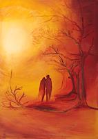 Marika-Korzen-Menschen-Paare-Gefuehle-Liebe-Moderne-Konkrete-Kunst