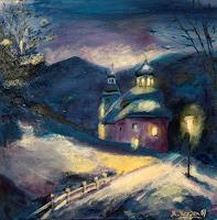 Marika-Korzen-Landschaft-Berge-Landschaft-Winter-Moderne-Konkrete-Kunst