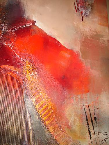 Silvia Sailer, red force, Abstraktes