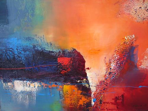 Silvia Sailer, Sehnsucht, Abstraktes, Landschaft: See/Meer, Moderne, Abstrakter Expressionismus