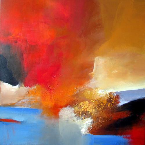 Silvia Sailer, Herbstzeitlose, Abstraktes, Landschaft: Herbst, Abstrakte Kunst, Expressionismus