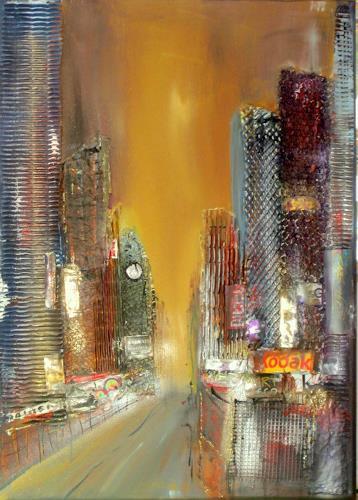 Silvia Sailer, New York, Bauten: Hochhaus, Wohnen: Stadt, Abstrakte Kunst, Expressionismus