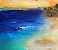 Silvia-Sailer-Landschaft-See-Meer-Landschaft-Strand-Gegenwartskunst-Gegenwartskunst