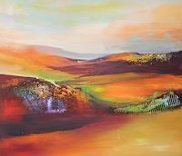 Silvia-Sailer-Landschaft-Huegel-Landschaft-Herbst-Gegenwartskunst-Gegenwartskunst