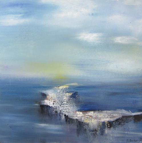 Silvia Sailer, Eiszeit II, Natur: Wasser, Landschaft: Winter, Gegenwartskunst